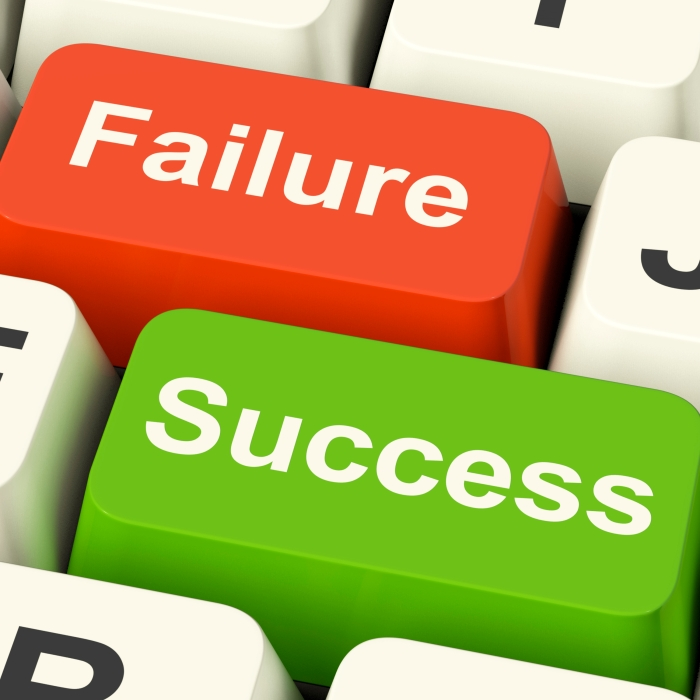 Success And Failure Computer Keys Showing Succeeding Or Failing Online