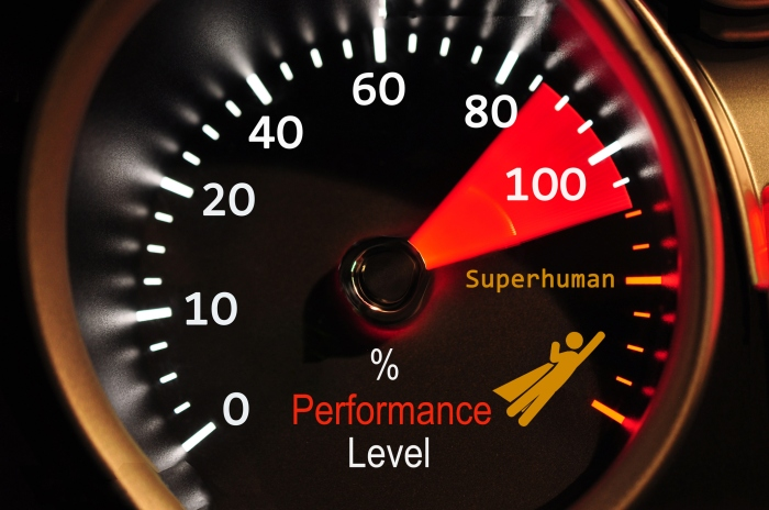 Performance meter showing staff success
